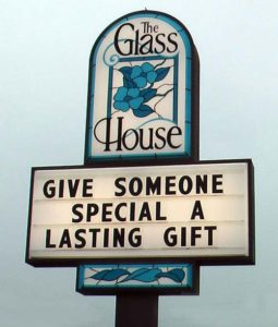 Glass House Sign 500x589