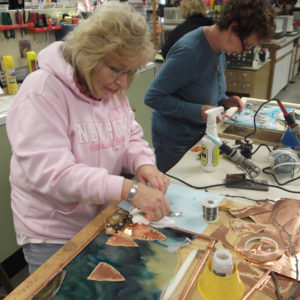 Stained Glass Class Students