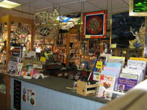Stained glass windows, books, tools and supplies