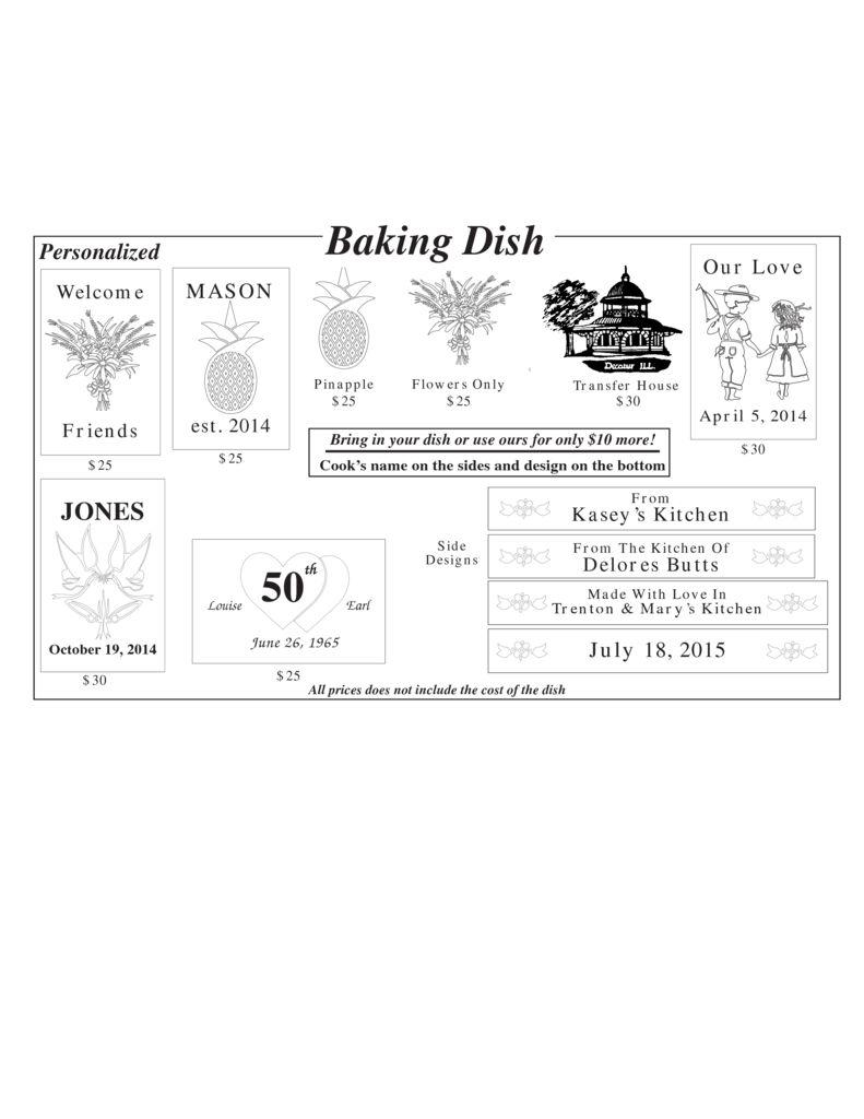 thumbnail of baking dish sign