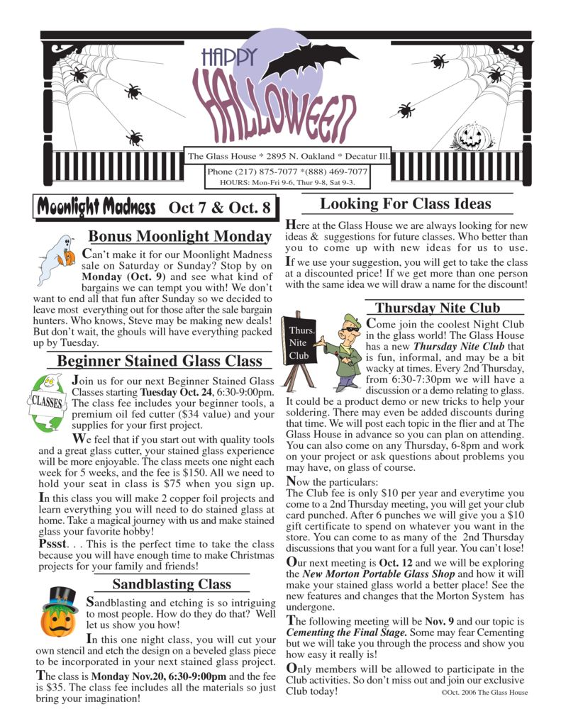 thumbnail of Glass House Flier Oct. 06 reduced