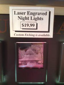 Laser Engraved Night Lights