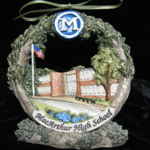 Macarthur High School Christmas Ornament