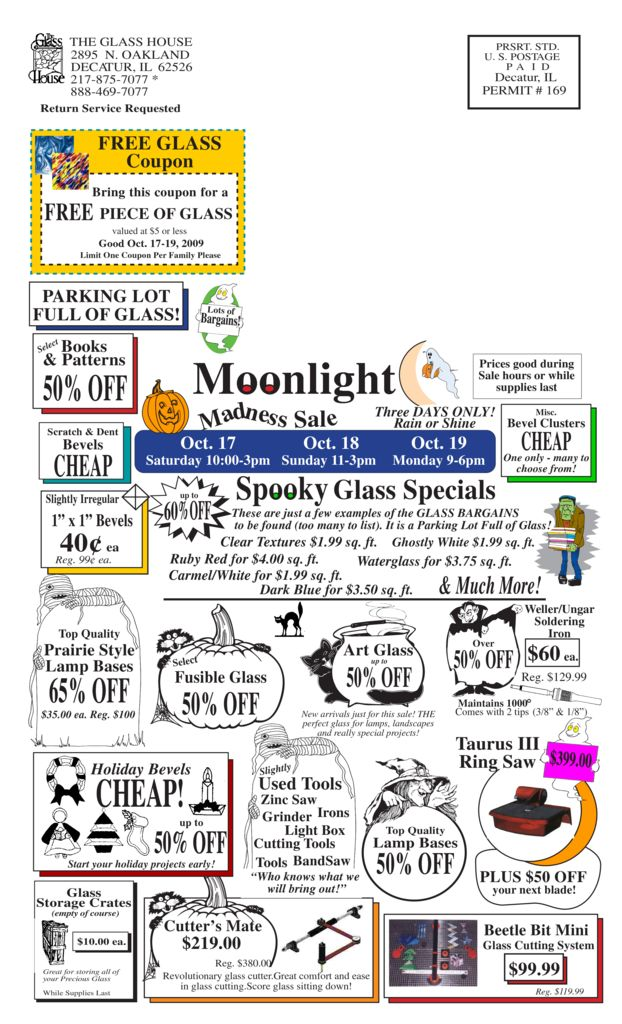 thumbnail of October Stained Glass Sale Flier – page 2 2009