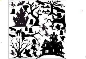 Spooky Precut Foil Overlay