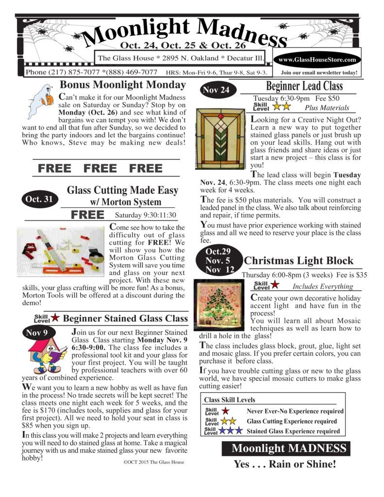 thumbnail of Stained Glass Class Calendar
