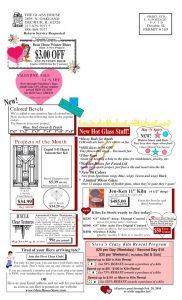 thumbnail of Stained Glass Sale Flier January Back