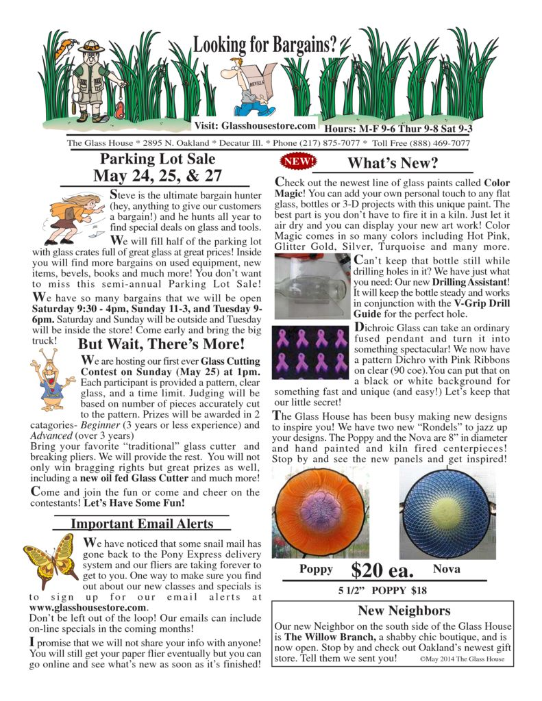 thumbnail of Stained Glass Sale Flier May 2014