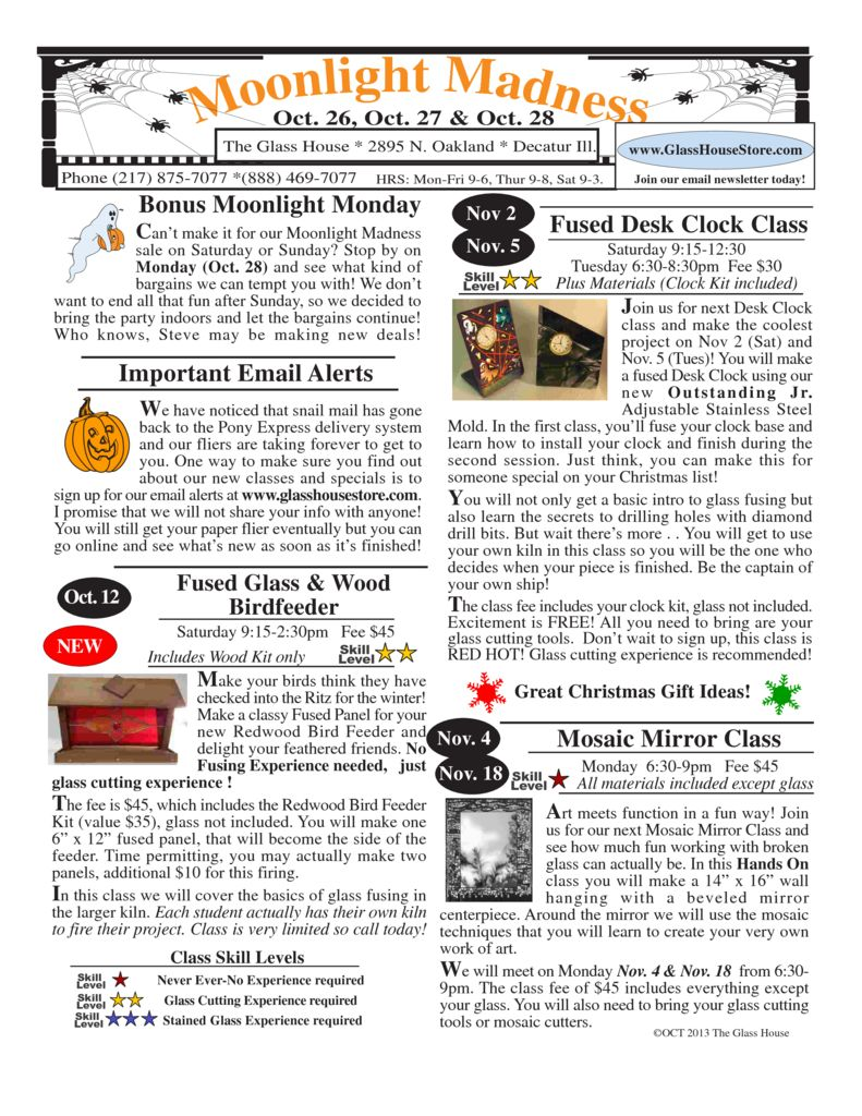 thumbnail of Stained Glass Sale Flier October 2013