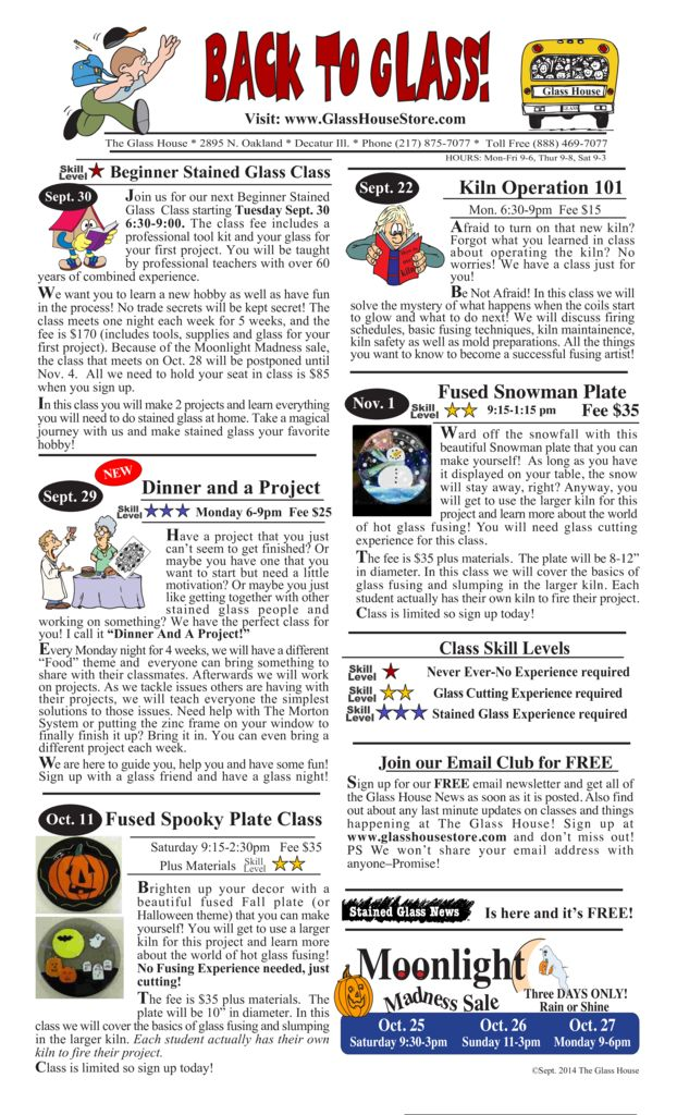 thumbnail of Stained Glass Sale Flier September 2014