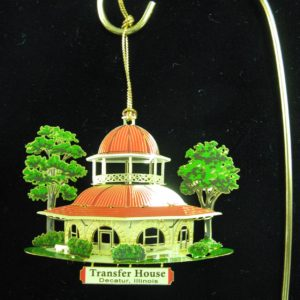 Transfer Houser Brass 3D Ornament