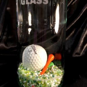 In case of emergency break glass golf ball sealed in a bottle