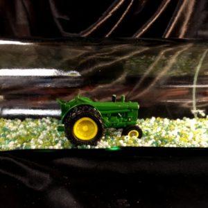 John Deere Tractor in a Bottle Close Up