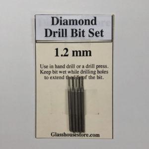 1.2 mm Diamond Drill Bit 5 Piece Set works with Dremel