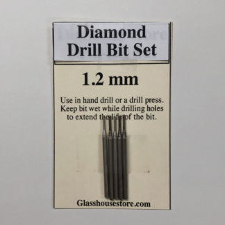 1.2 mm Diamond Drill Bit 5 Piece Set works with Dremel