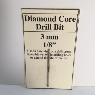 "1/8"" Diamond Core Glass Drill Bit (3 mm)"