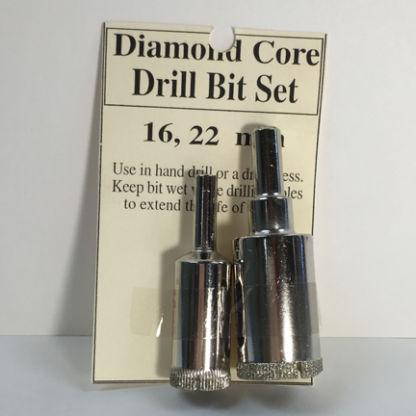 "5/16"" and 7/8"" Diamond Core Drill Bit Set (16 and 22 mm)"