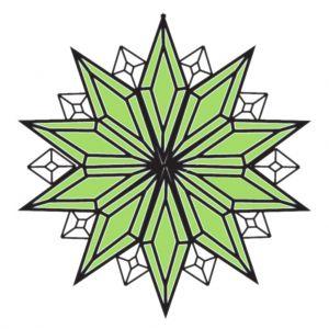 MMS 5005 Green Bevel Cluster MMS Bevels