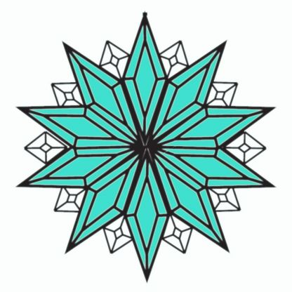 MMS 5005 Turquoise Bevel Cluster MMS Bevels