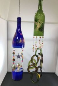 Wine bottle Windchime: Fairy