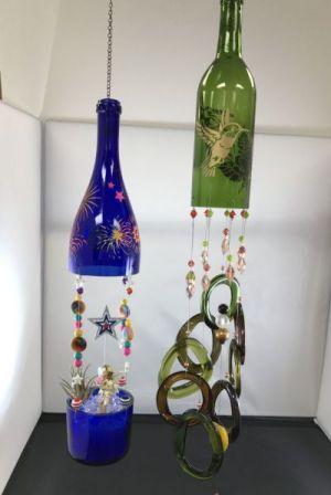 Wine bottle Windchime: Fairy