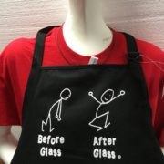 Before Glass and After Glass Apron - Black