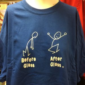 Before Glass and After Glass Tee Shirt - Blue