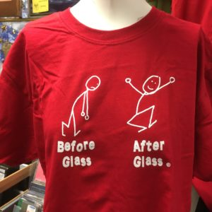 Before Glass and After Glass Tee Shirt - Red