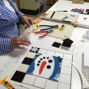 Fused Snowman Cookie Tray Student Assembling Pattern Project