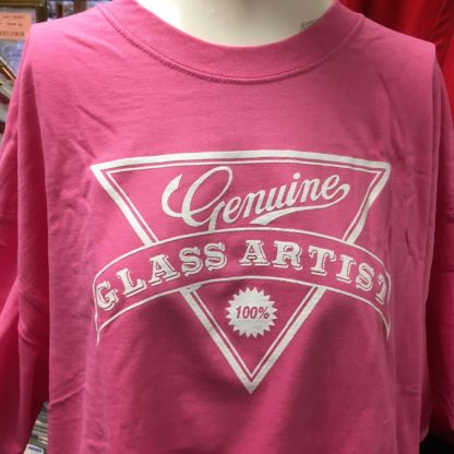 Genuine Glass Artists T Shirt - Pink