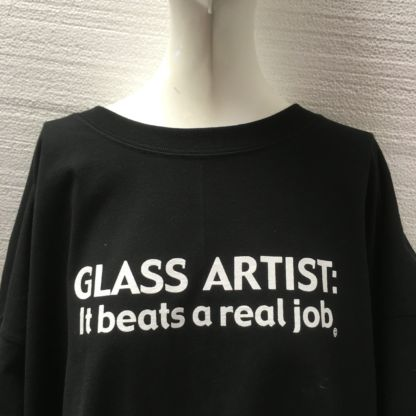Glass Artist - It Beats a Real Job Tee Shirt - Black