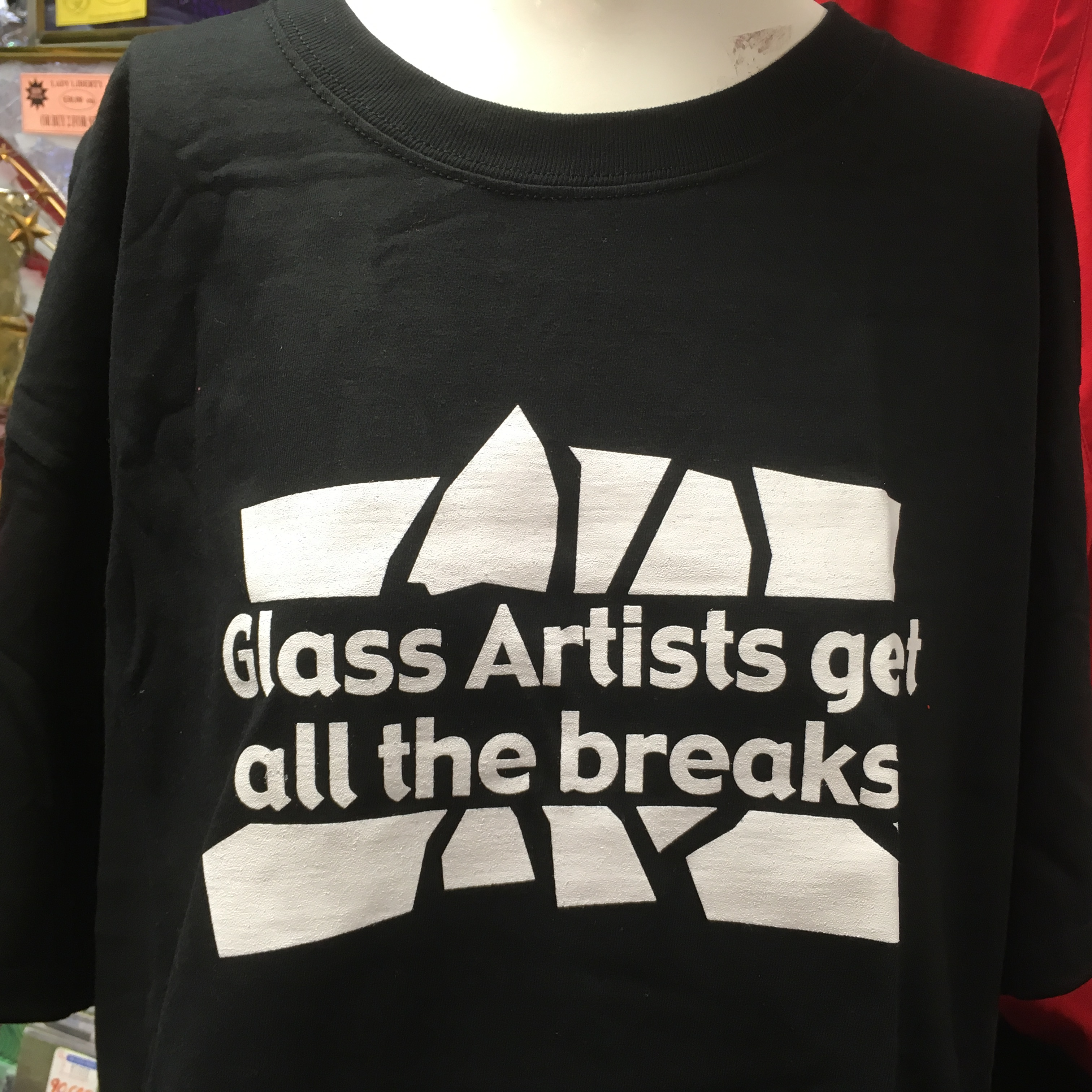 Glass Artists get all the Breaks T Shirt - Black