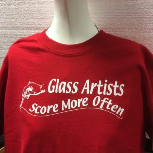 Glass Artists Score More Often Tee Shirt - Red