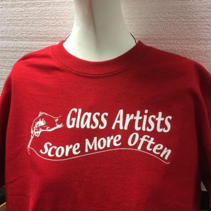 Glass Artists Score More Often Tee Shirt - Red