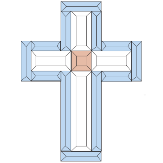 "Cross 1015 Blue Peach and Clear Bevel Kit 10"" x 15"""