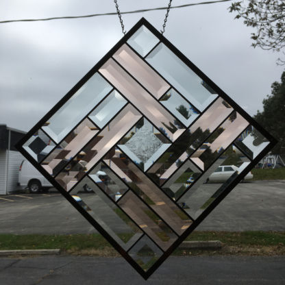 MMS 5001P Bevel Cluster Finished Stained Glass Project Panel