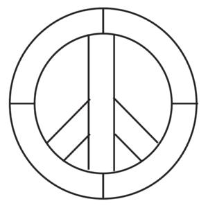 """Peace Sign Beveled Glass Kit 7"""" Diameter 7 Bevels"""