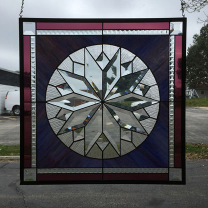 MMS 5005 Bevel Cluster Finished Stained Glass Project Panel