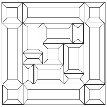 "Aurora Clear Bevel Cluster 10"" x 10"""