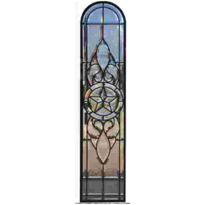 """MMS BZ 43 8"""" X 43"""" Complete Beveled Glass Panel"""