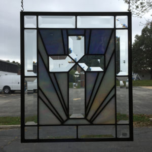 MMS GC 2405 Bevel Cluster Finished Stained Glass Project Panel