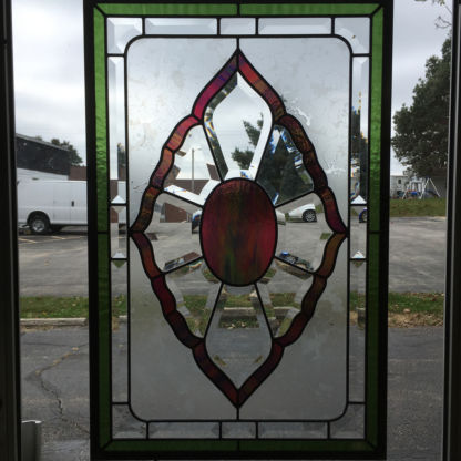 MMS OJ-11 Bevel Cluster Finished Stained Glass Project Panel