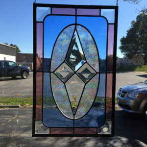 MMS Star-200 Bevel Cluster Finished Stained Glass Project Panel