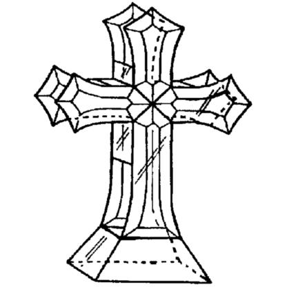 """Table Cross 8 Glass Bevel Kit 8"""" x 11"""""""