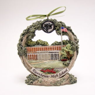 Decatur Eisenhower high school ornament on stand