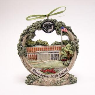 Decatur Eisenhower high school ornament on stand