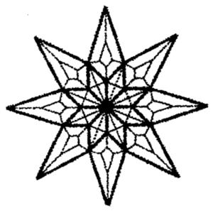 "Quilt Star glass bevel cluster 8 1/2"" X 8 1/2"""