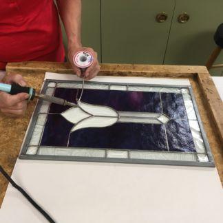 Beginner stained glass soldering
