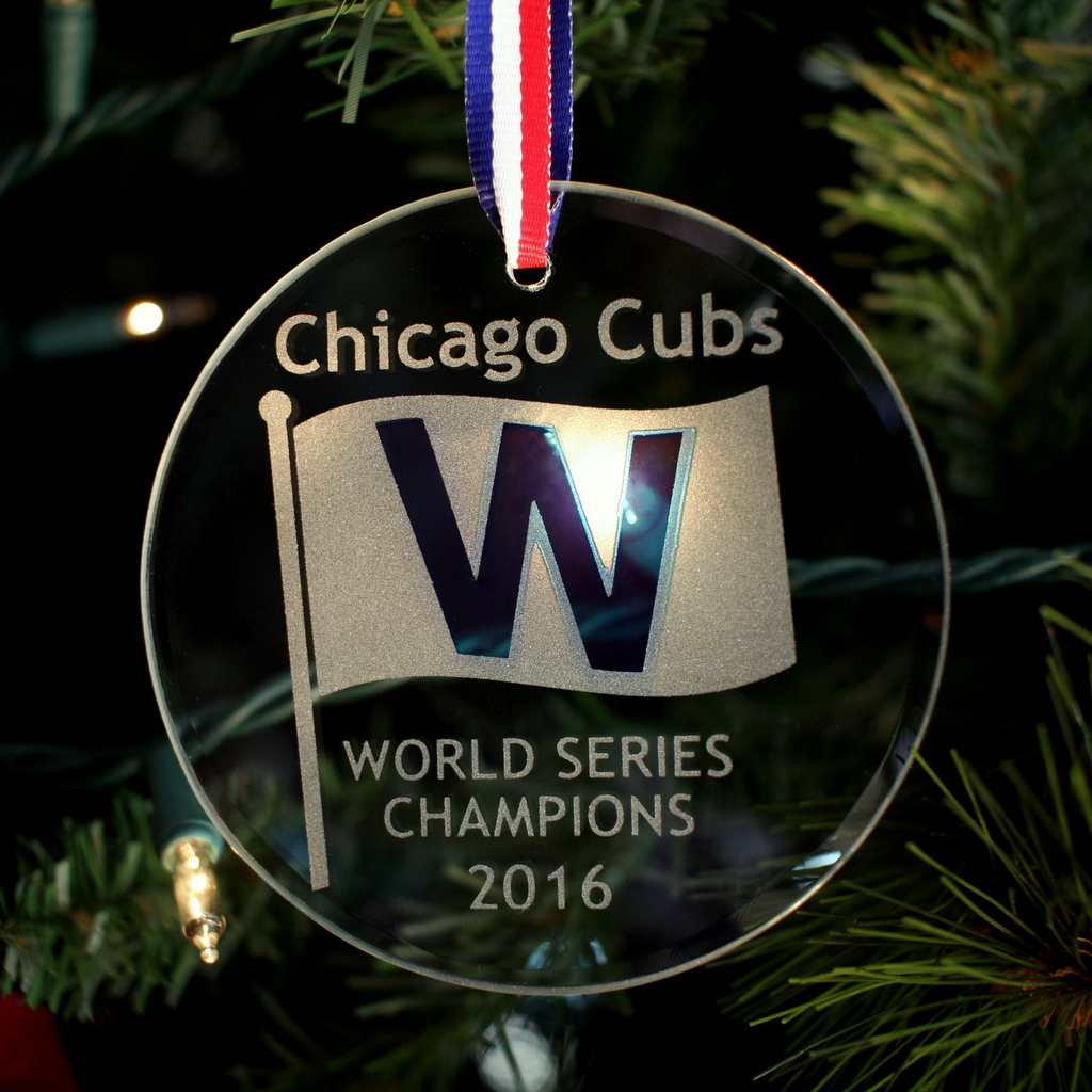 Cubs Christmas Ornaments.Chicago Cubs World Series Champions Ornament