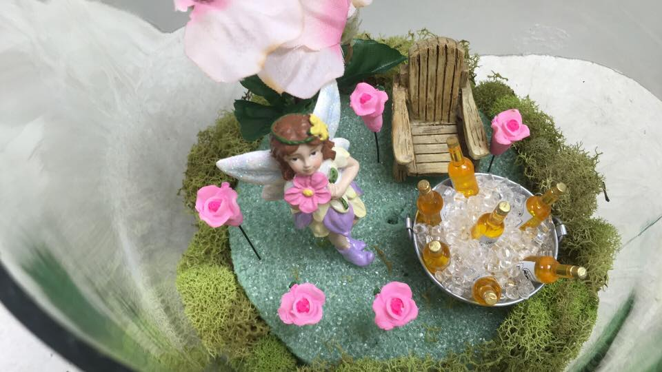 Miniature Beer Fairy Garden